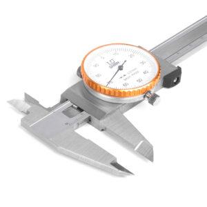 Штангенциркуль ШЦК-1-150 0,01 с круг. шкалой губ.40мм SHAN
