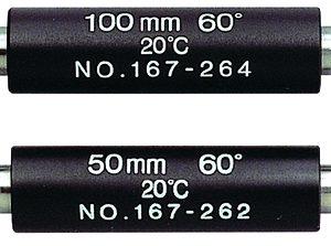 Мера длины установочная- 125 (угол 60гр) 167-265 Mitutoyo